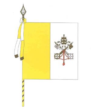 Официальное изображение флага Ватикана