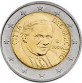 Монета (2 евро) с изображением Бенедикта XVI