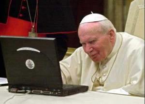 Иоанн Павел II рассылает Апостольское наставление \'Церковь в Океании\' по электронной почте