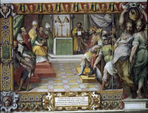 Оттон I подтверждает Иоанну XII дарения своих предшественников