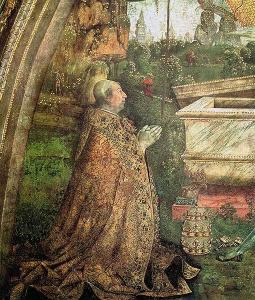 """Александр VI на фреске Пинтуриккьо \""""Воскресение Христа\"""""""